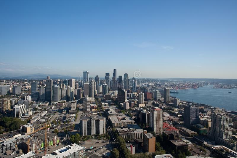 Download Seattle-Mitte stockfoto. Bild von pazifisch, architektur - 12201146