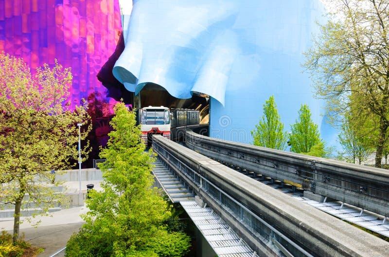 Seattle mittenskenig järnväg fotografering för bildbyråer