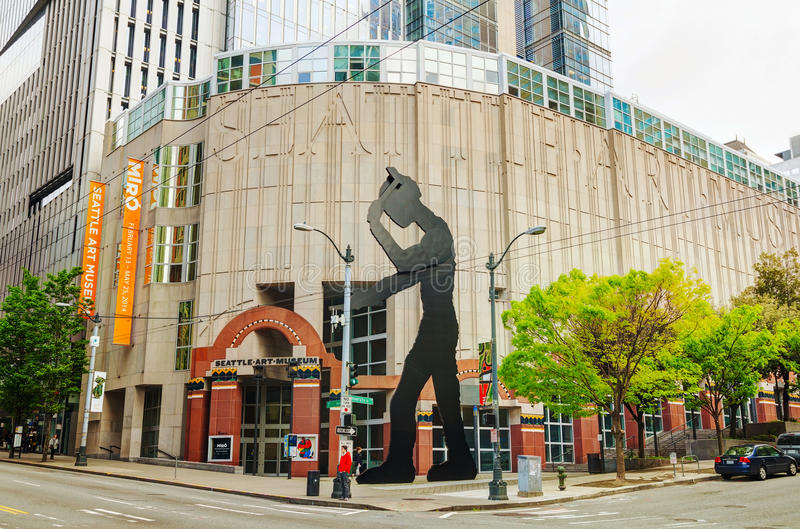 Seattle muzeum sztuki główny budynek zdjęcia stock