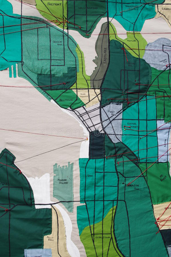Seattle neighborhoods map made from fabric stock photo image of download seattle neighborhoods map made from fabric stock photo image of fabric belltown gumiabroncs Image collections