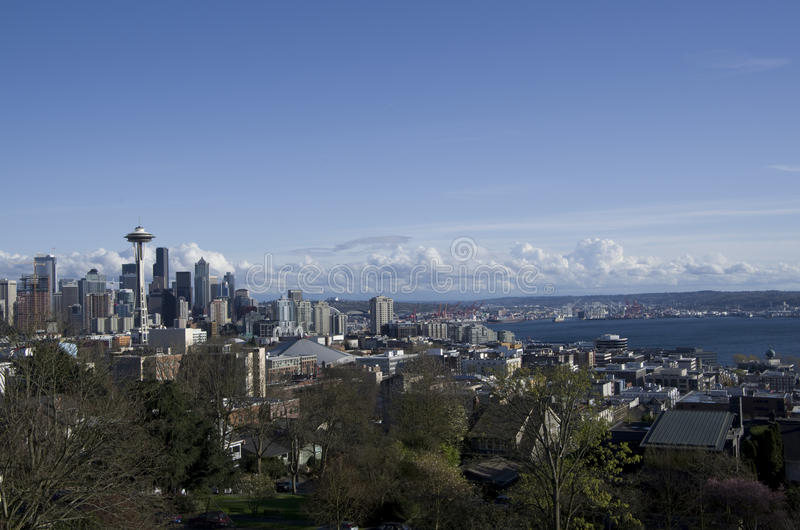 Seattle nieba widok zdjęcie royalty free
