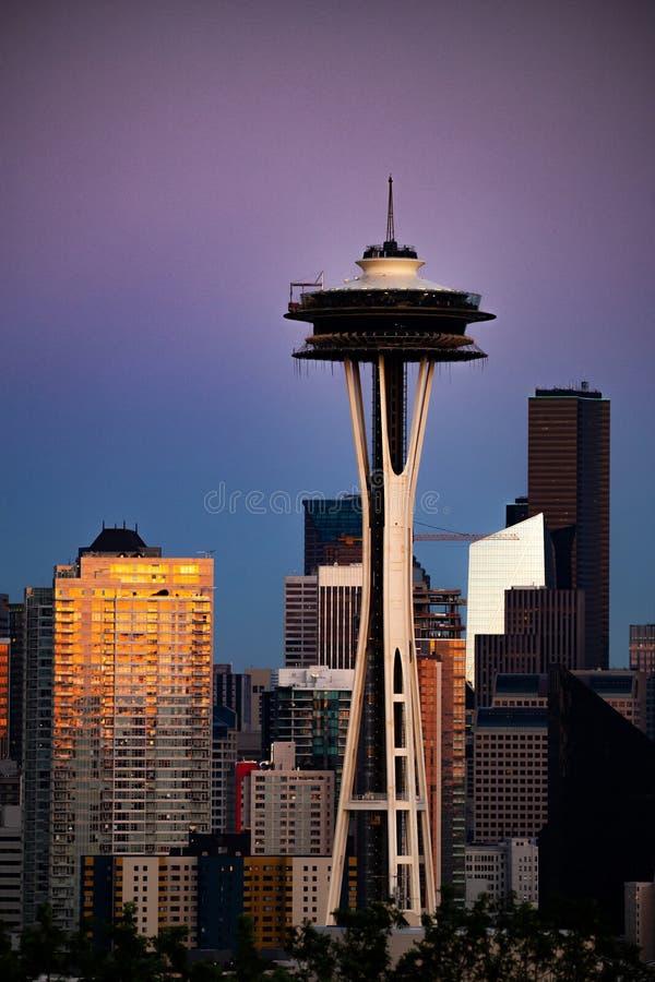 Seattle no alvorecer fotografia de stock royalty free