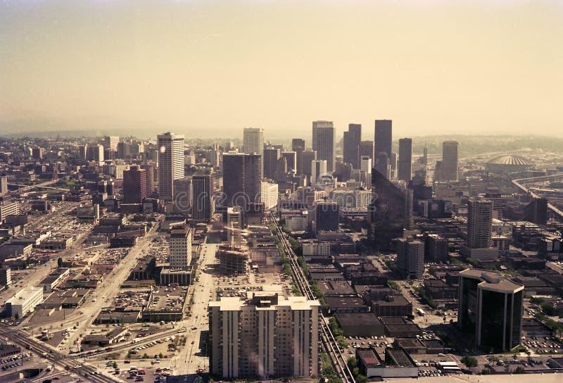 Seattle no ano 1981 fotografia de stock royalty free