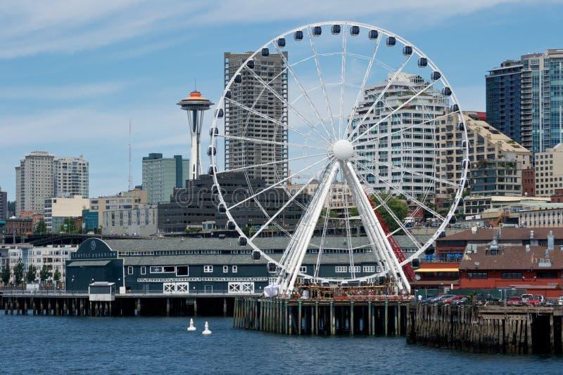 Seattle nowy Nabrzeże zdjęcie royalty free