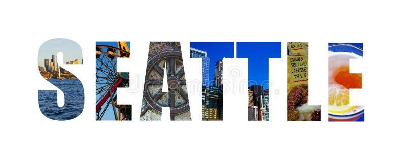 Seattle op wit royalty-vrije stock afbeelding