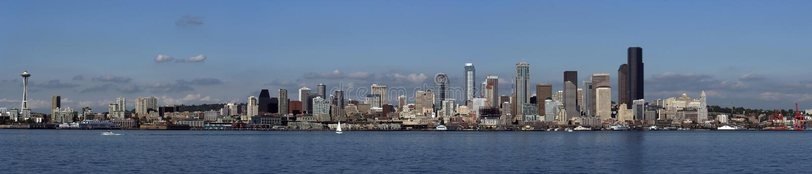 Download Seattle panorama stock photo. Image of vacation, view, seattle - 157798