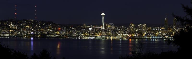Seattle panorama arkivbild