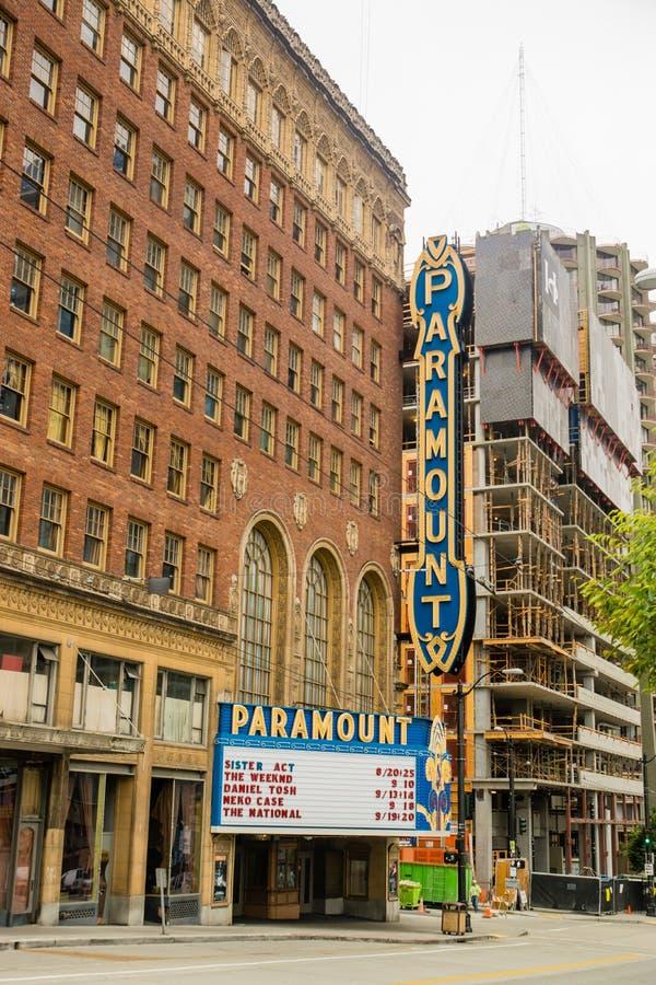 Seattle Paramount imagem de stock royalty free