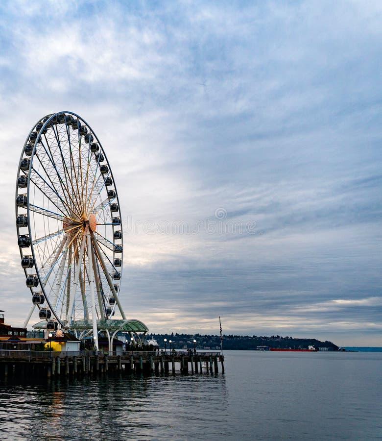 Seattle pariserhjul arkivfoton