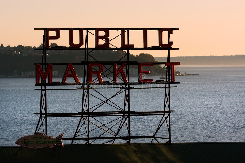 Seattle Pike Place Market royalty free stock photo
