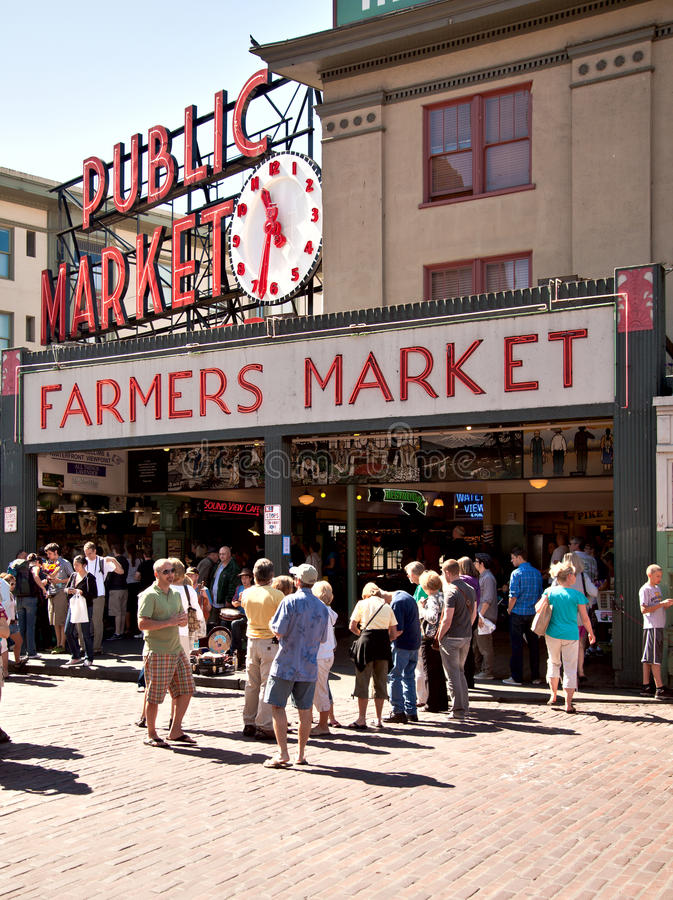 Download Seattle - Pike Place Public Market Editorial Image - Image of market, city: 20771695