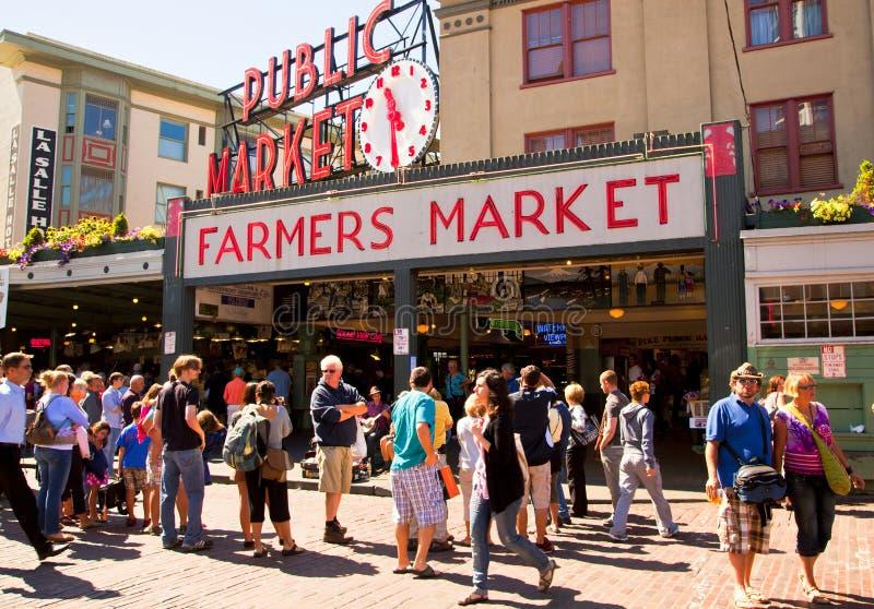 Seattle-- Pike-Platz-allgemeiner Markt stockfoto