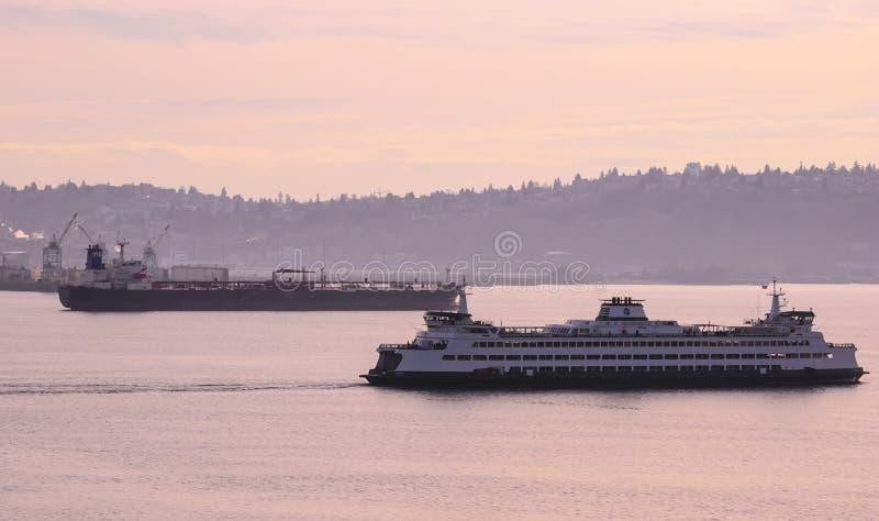 Seattle porttrafik royaltyfria foton
