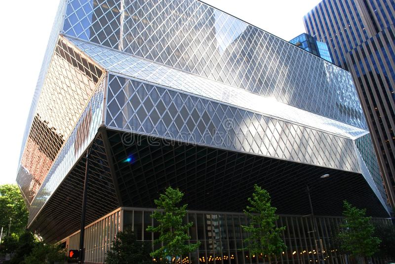 Download Seattle Public Library stock photo. Image of modern, steel - 20796838