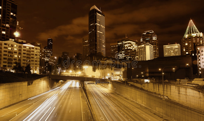 Seattle Roadscape royalty-vrije stock fotografie