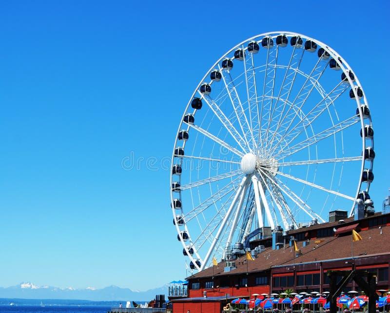 Seattle's Great Wheel stock photos
