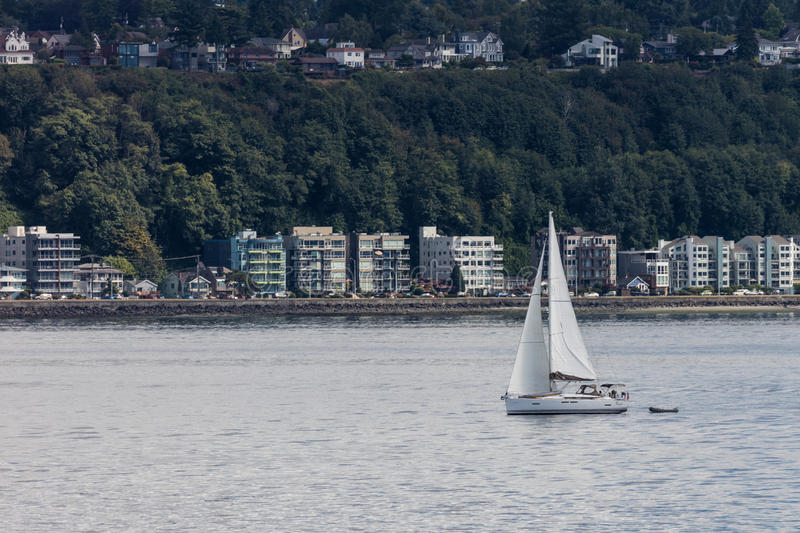 Seattle Sailboat royalty free stock image