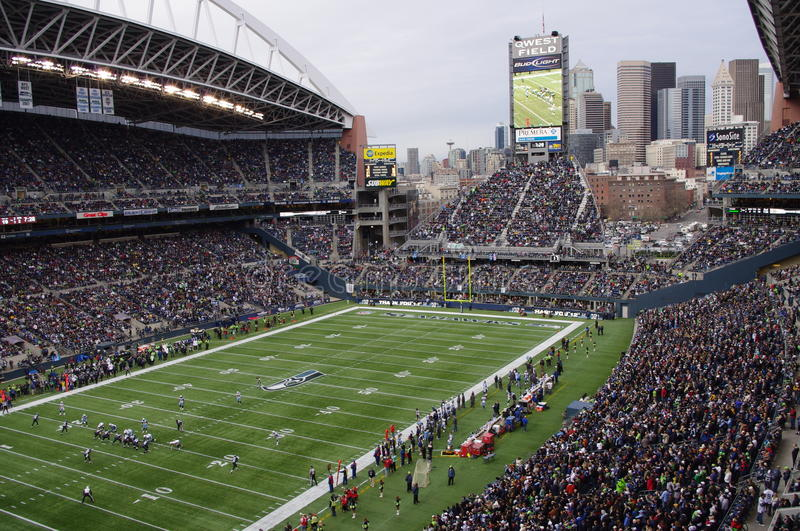 Seattle Seahawks game royalty free stock photography