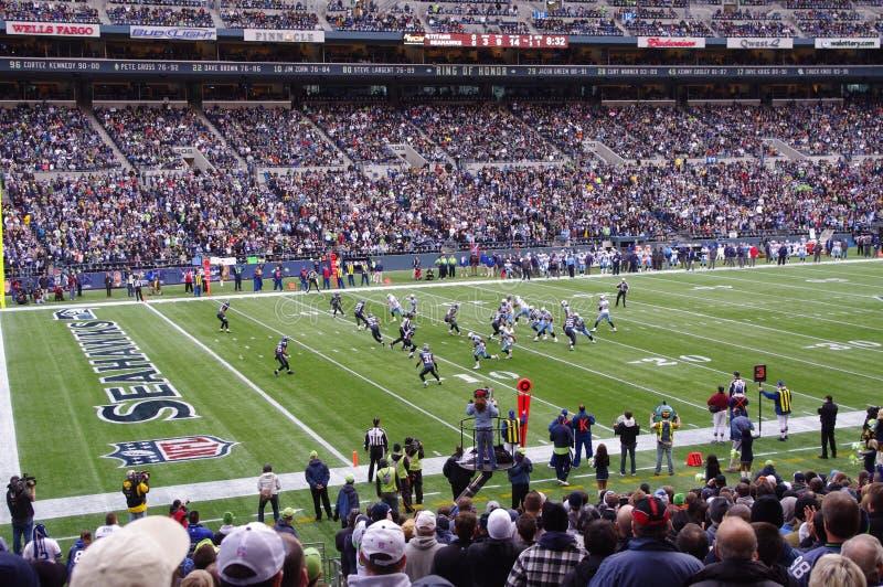 Seattle Seahawksspel stock afbeelding