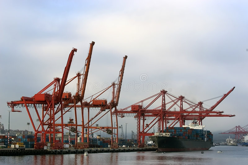 Download Seattle Seaport stock photo. Image of pacific, portal, cranes - 196324