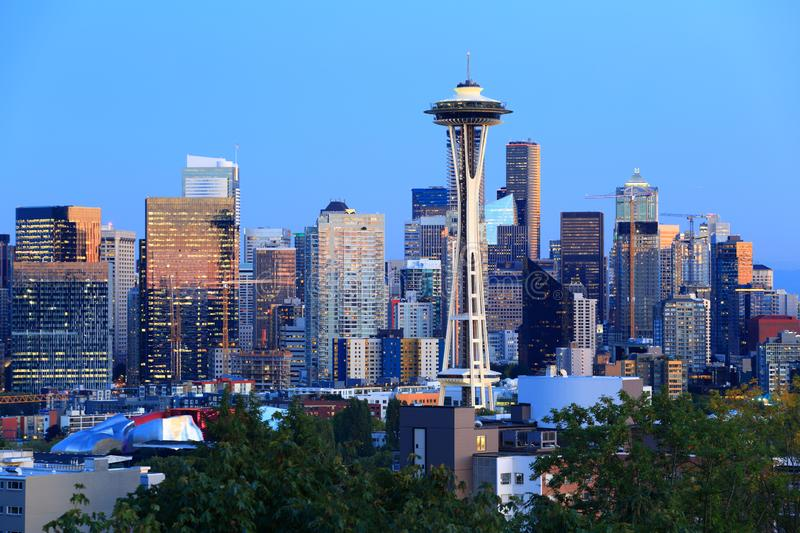 Seattle sktline and space needle stock image