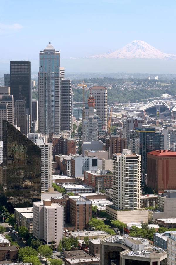 Download Seattle skyline stock image. Image of dense, concrete - 21422267