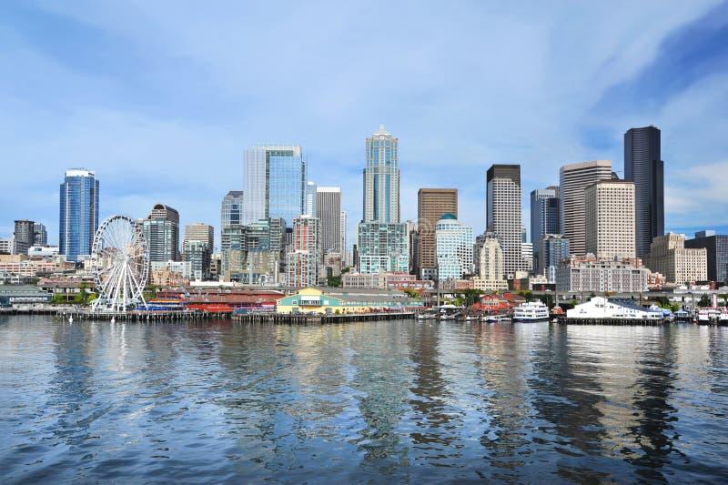 Seattle-Skyline stockbild