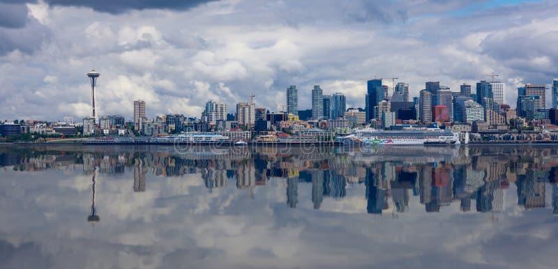 Seattle Skyline Panorama stock photography