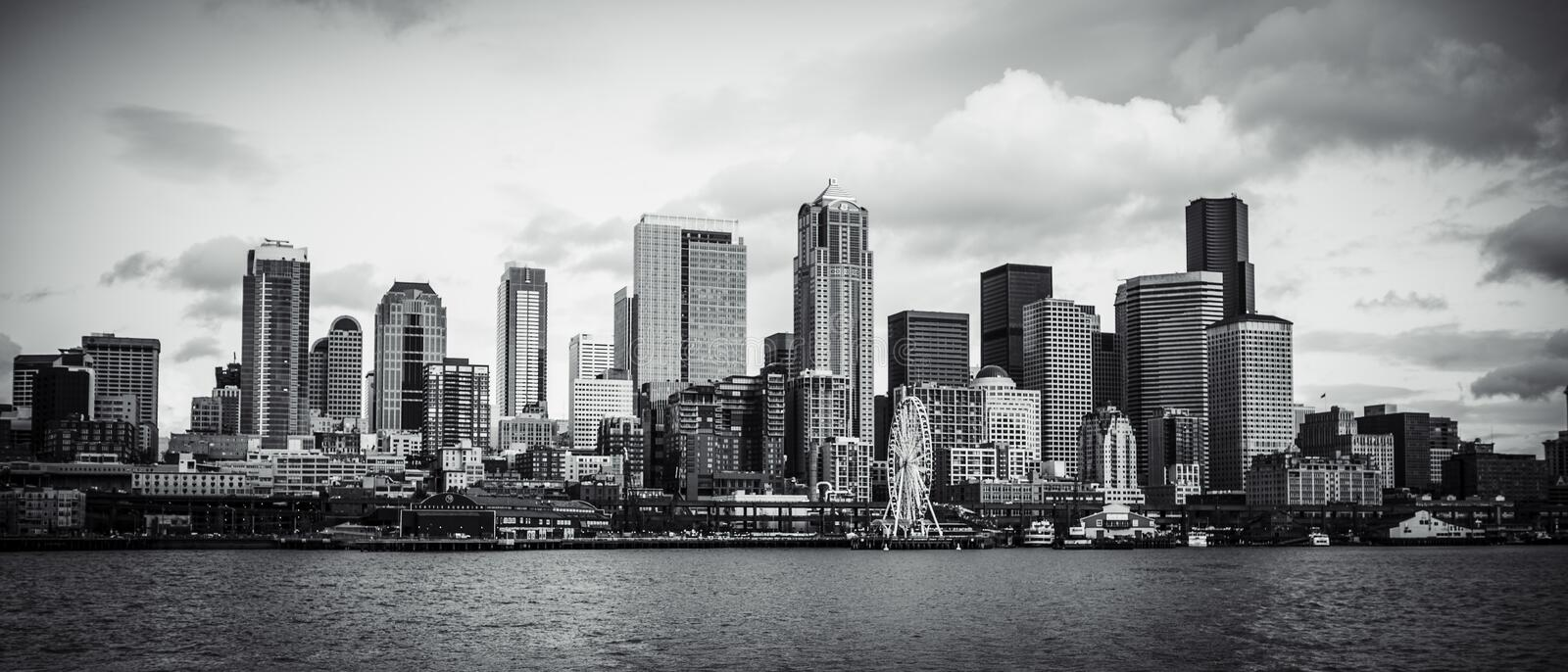 Download SEATTLE SKYLINE stock photo. Image of skywheel, architecture - 39512556