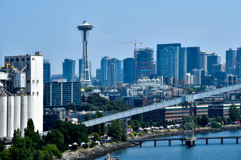 Seattle Skyline with space needle royalty free stock photography