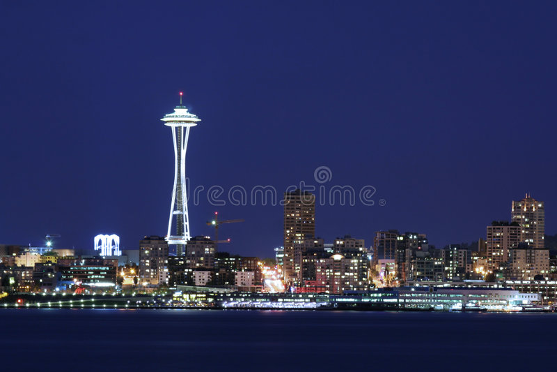 Download Seattle Skyline At Twilight Stock Photo - Image: 2786688