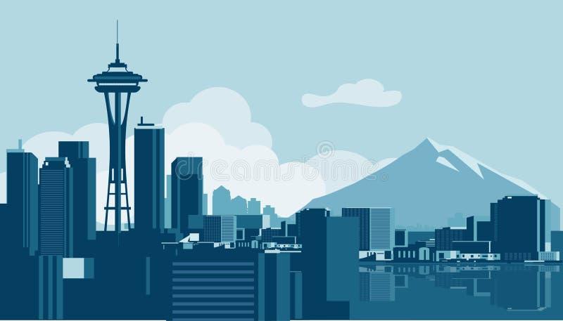 Seattle Skyline royalty free illustration