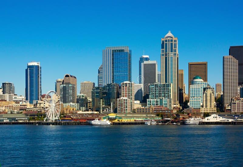 Seattle Skyline, Washington state royalty free stock photo