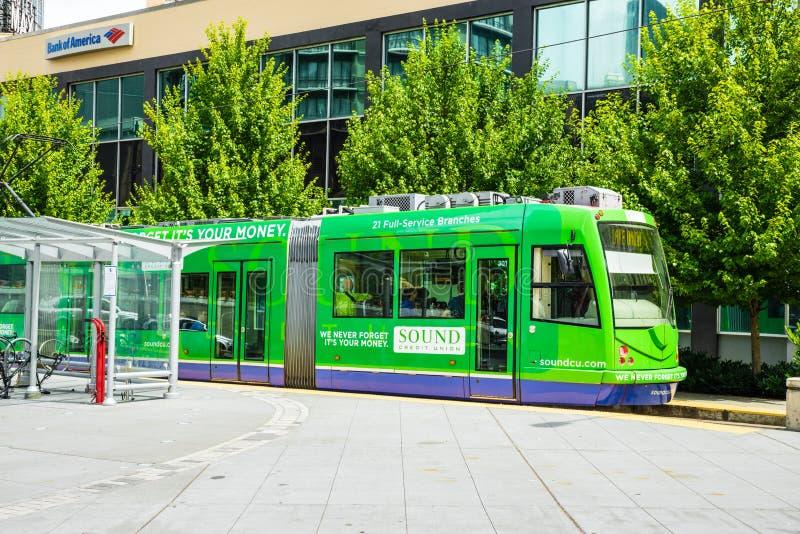Seattle spårvagn royaltyfria foton