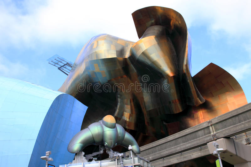 Seattle space center architecture. royalty free stock photo