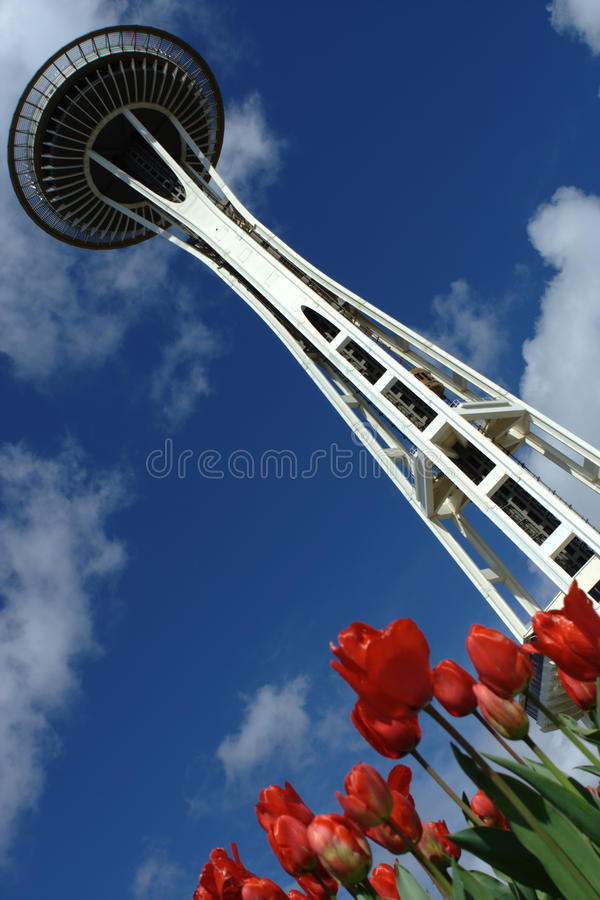 Download Seattle Space Needle editorial stock image. Image of america - 19269574