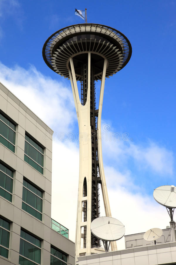 Seattle Space Needle Tower, Washington state. royalty free stock images