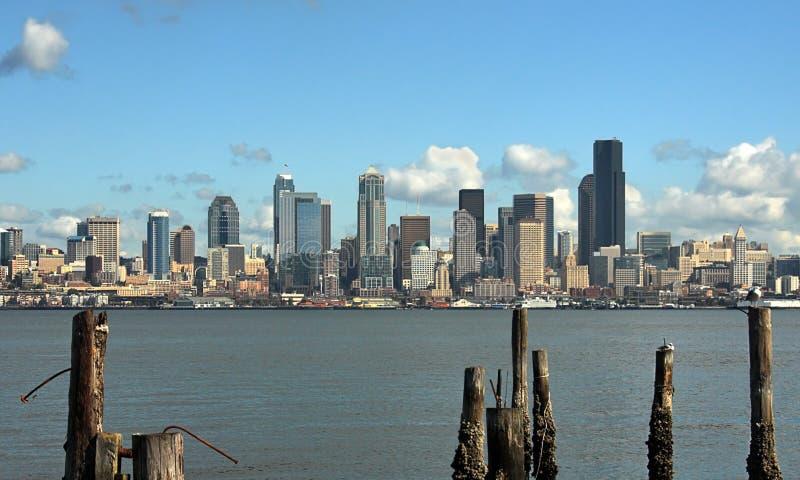 Seattle-Stadt-Skyline lizenzfreies stockbild