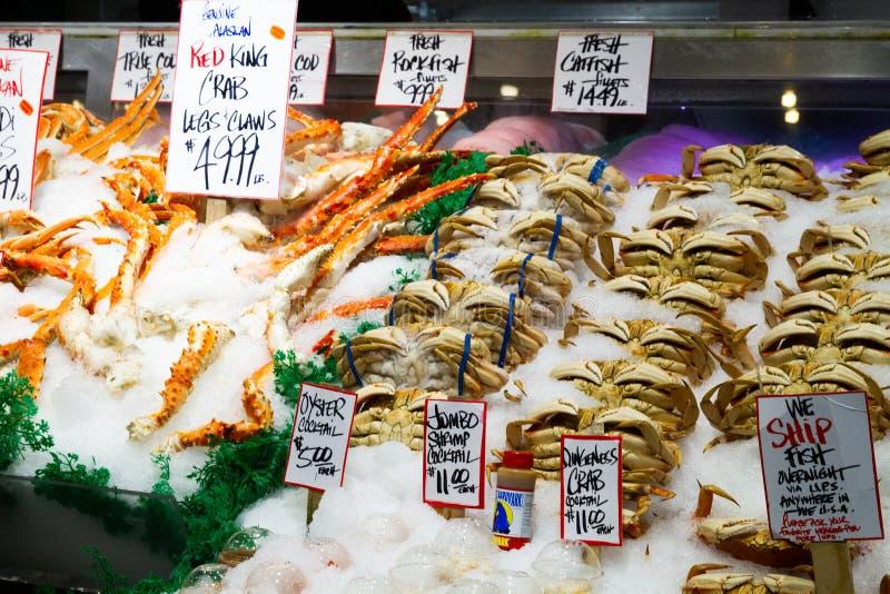 Seattle, stan washington - szczupaka miejsca Jawny rynek zdjęcia royalty free