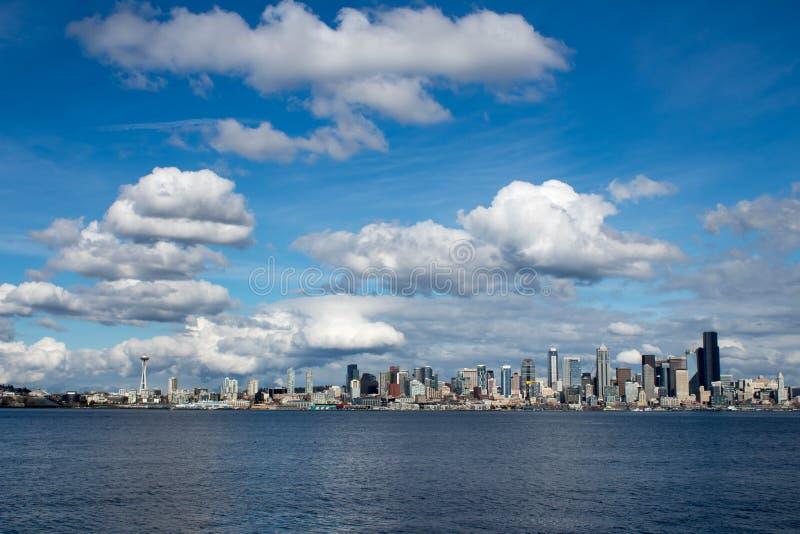 Seattle strand och utrymmevisare arkivfoto