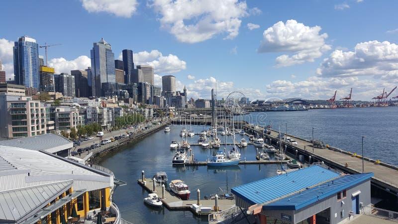 Seattle strandvår 2017 royaltyfri foto
