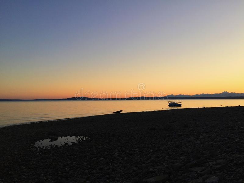 Seattle Sunset stock images