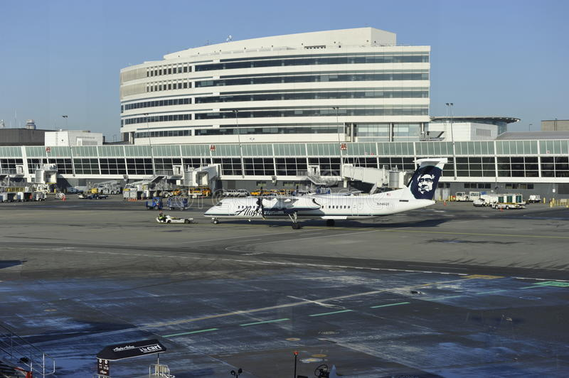 Seattle-Tacoma Airport, Main Terminal Building royalty free stock image