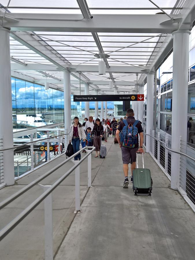 Seattle Tacoma International Airport - Alaska Airlines Ramps stock images