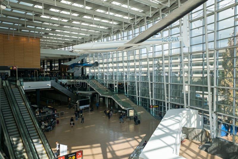 Seattle Tacoma SEA Airport Terminal royalty free stock image