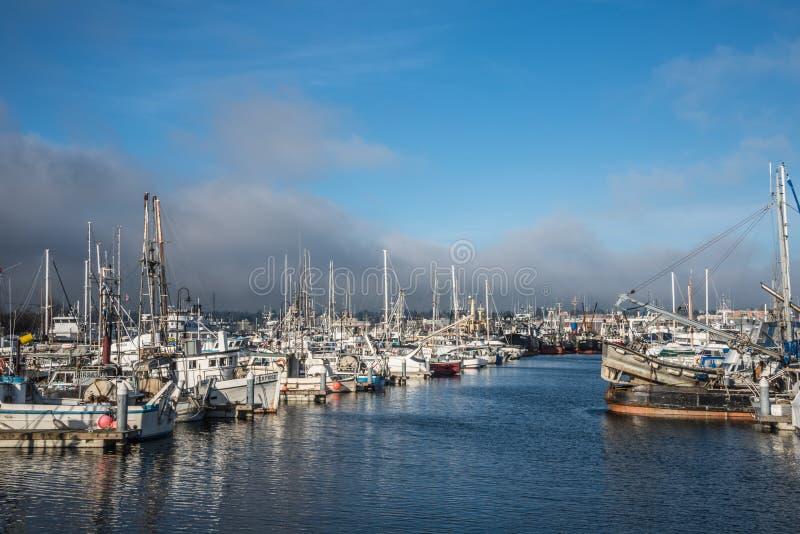 Seattle terminal de los pescadores de los barcos pesqueros  imagenes de archivo
