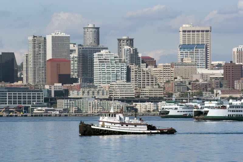 Seattle Towboat Royaltyfria Foton