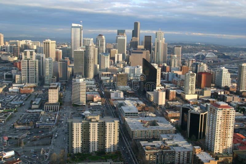 Seattle tylko zachód słońca obraz royalty free