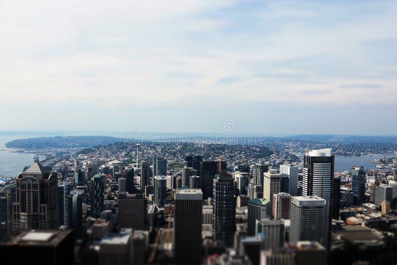 Seattle, U.S.A., il 31 agosto 2018: In città Seattle veduta fotografia stock