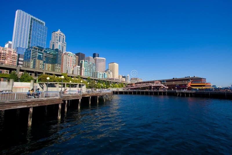 Seattle-Ufergegend-Stadt-Skyline stockfotografie